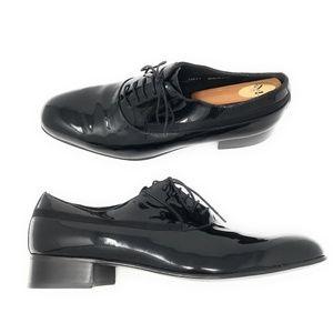 NEW Mezlan Broadway Patent Leather Tuxedo Shoes 12